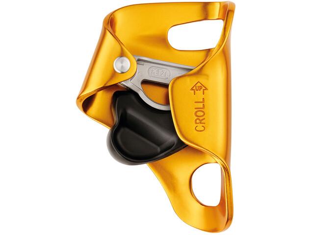 Petzl Croll L Stijgklem, yellow